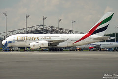Emirates --- Airbus A380 --- A6-EDY (Drinu C) Tags: plane aircraft sony emirates airbus a380 muc dsc eddm hx9v a6edy adrianciliaphotography