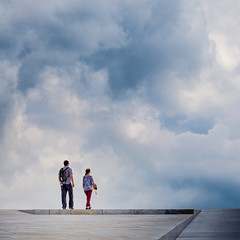 (Svein Nordrum) Tags: roof light sky people color colour building oslo clouds dark square opera photographer view angle bright perspective squareformat marble 70200mm dennorskeoperaballett