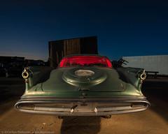 Tail Feathers (dejavue.us) Tags: california longexposure nightphotography lightpainting abandoned car nikon desert fullmoon imperial junkyard chrysler nikkor 1959 mojavedesert d800 1835mmf3545d vle paulsjunkyard