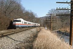 rr2192 (George Hamlin) Tags: new york railroad trees winter grass train photography photo george bare line pole amtrak marsh passenger decor rohr signal manitou hamlin turboliner