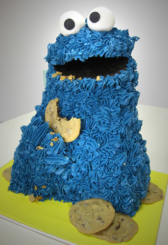Cookie Monster Cake med