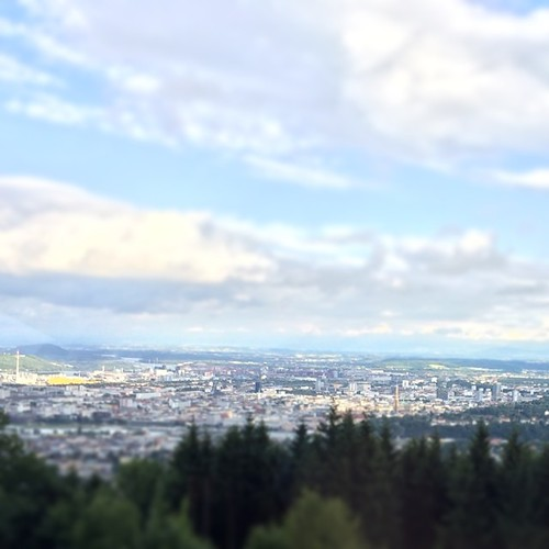Looking down the city of Linz for dinner :-)