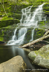 Falls Brook Falls (Jericho Hills Photography) Tags: color green nature water beautiful beauty rural forest river outdoors waterfall moss woods colorful stream pretty natural vibrant connecticut scenic newengland vivid ct lush elegant naturephotography landscapephotography scenicviews connecticuts tunxisstateforest fallsbrookfalls johnvose jerichohillsphotography connecticutscenic