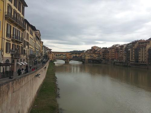 Le fleuve Arno à Florence
