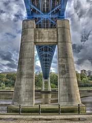 Queen Elizabeth II Metro Bridge - Newcastle (D.R.Williams) Tags: metro new bridge tyn river concrete blue hdr