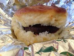 Sausage Biscuit at Connie's Chicken, Tupelo MS (Deep Fried Kudzu) Tags: sausage biscuit connies fried chicken tupelo mississippi