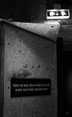 IMG_6210 (Mallory Walle) Tags: black blackandwhite noir blanc noiretblanc expostion probabilité du miracle peintures photos photography photo photographie canon bordeaux aquitaine base sous marine ecrans tableaux visite découverte vélo tags graffity grafity graff tag couleurs colors créa crea creation plasticien phrases sentences walls murs wall mur bunker maze labyrinthe frere brother quais hangars batiments ciel sky blue bleu inception