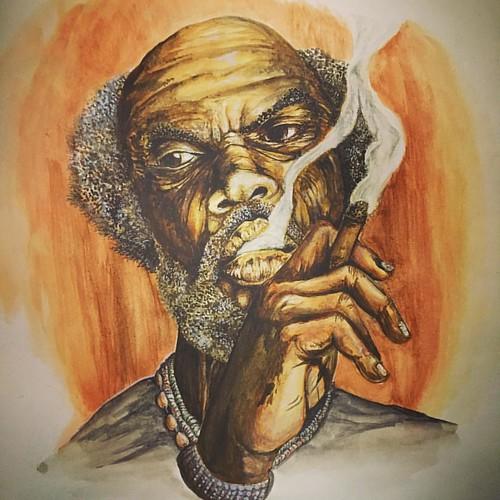 Preto Velho! #watercolor #aquarela #salvepretovelho #terreiro #saravá #umbanda