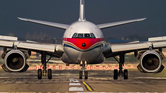 China Eastern Airlines Airbus A330-200 B-6543 (Aviation and Travel photography) Tags: taipei airbus china eastern taiwan traveltotaiwain sunset runway airlines airliners airplane ariplanes airtoair airport canon flickr aircraft aviation outdoor summer holiday art vehicle