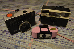 My old cameras: Agfa Agfamatic 100, Agfa Autostar X-126, Selby Micro-2 (wwwwolf) Tags: camera metaphotography
