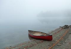 Rowing boat (Rachel Dunsdon) Tags: newengland lake mist echolake maine rowingboat