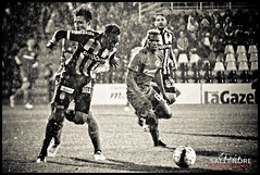 Sporting Charleroi - Fc Bruges (Chris.s.Photo) Tags: pluie rain foot football sportingcharleroi sport nb noir et blanc black white
