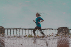 A Person Running. (Omygodtom) Tags: abstract art people perspective artist nikon d7100 focus yahoo tamron90mm tamron action motion f28 outdoors pacif