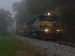 A Foggy Start on The B&P (Joseph Bishop) Tags: rcpe 6416 emd sd402 carrollton ny newyork buffalopittsburghrailway trains train track tracks railfan railroad railway rail rails fog foggy