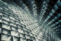 Collision Course (Sean Batten) Tags: kensingtongardens serpentinegallery london england unitedkingdom gb bjarkeingelsgroup city urban nikon df 35mm abstract boxes cubes architecture sculpture