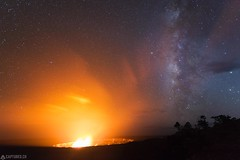 The fifth element - Big Island (Captures.ch) Tags: 2016 bigisland black blue born brown elements fire galaxy gray halemaumaucrater hawaiivolcanoesnationalpark hawaii kilaueacaldera landscape lava milkyway nature new night october orange perfection pure red smoke stars steam travel usnationalparkservice volcano wild yellow ngc