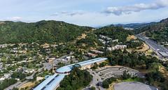 Blue Wave - Marin County Civic Center (Wind Watcher) Tags: kap windwatcher kite dopero bkt frank lloyd wright marin county civic center san rafael california