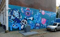 Lastplak (oerendhard1) Tags: graffiti streetart urban art rotterdam lastplak mural eendrachtsstraat oles oxalien doodkonijn grrt thor one kbtr pinwin boortorrie
