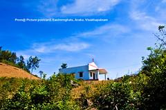 hill-top-church (prem swaroop) Tags: aptourism artist araku easterghats prem vizagcityguide visakhapatnam haybarrack clouds scenery bluesky clearsky hay hut village church hilltop