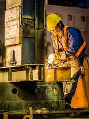 (MyInkIsMyArt) Tags: skyler king taiwan asia construction welding men work