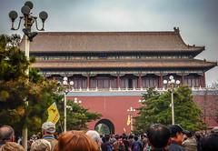 Tiananmen Square-0958 (kasiahalka (Kasia Halka)) Tags: 109acres 2016 beijing china citysquare gateofheavenlypeace greathallofthepeople mausoleumofmaozedong monumenttothepeoplesheroes nationalmuseumofchina tiananmensquare
