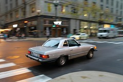 Silver (Flint Foto Factory) Tags: chicago illinois urban city autumn fall october 2016 downtown loop morning am rushhour 1981 1982 1983 1984 1985 mercedes benz 380sl r107 2door grandtourer gt sportscar motion moving inmotion silver traffic german import car auto automobile icm intentionalcameramovement worldcars statest monroe intersection panning