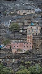 Berber Village (Tracy Metz) Tags: morocco berber village mountain highatlasmountains buildings stucco rock trees remote northafrica