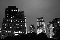 City Lights on the Clouds (Octal Photo) Tags: 500px travel tower no person skyscraper architecture office skyline finance dusk urban evening downtown building sky business modern street tall city cityscape manhattan new york black white lights clouds