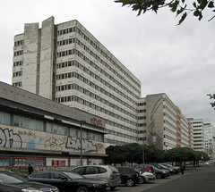 DDR architecture panorama, Otto-Braun-Strasse, Berlin, July 2016 (stilo95hp) Tags: ddr gdr architektur berlin architecture