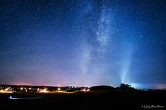 Castle Beams - Milky Way, Bamburgh Castle, Northumberland (Gary Woodburn) Tags: milky way stars starry night dark sky bamburgh castle northumberland canon 6d samyang 24mm f14