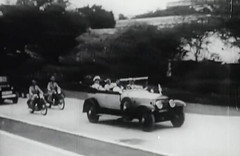 SCENES FROM INDEPENDENCE: Jinnah and Mountbatten emerge out of the Constituent Assembly (Doc Kazi) Tags: pakistan india independence negotiations ceremonies jinnah gandhi nehru mountbatten viceroy wavell stafford cripps edwina fatima muhammad ali