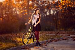 fall beauty (clickn0w) Tags: sunset portrait bike girl pretty friday flikr