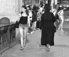 WOMEN By Angela Wilson (angelawilson2222) Tags: street city prague czech republic people lives women faith nun clothes labels nikon angela wilson
