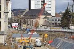 Sany SCC 500 (Alexandre Prvot) Tags: construction travaux chantier worksite buildingsite construccin baustellebauplatz cugn grandnancy lorraine