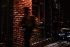Hollywood at Night. (drpeterrath) Tags: canon eos5dsr 5dsr hollywood night nightphotography nightstreetphtography color mood bricks motion blur sidewalk cafe man male losangeles lacp outdoor
