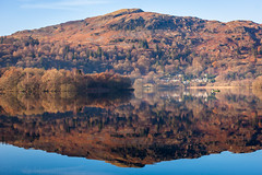 Grasmere Lake Reflection (Sandy Sharples) Tags: grasmere lakedistrict landscape lakes water nature heather reflection lakeland england cumbria orange blue