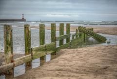Spittal groyne (seth2252013) Tags: water sea tide beach line lighthouse groyne sky coast coastline estuary berwick tweed
