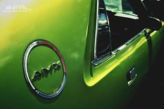American Speedster (Hi-Fi Fotos) Tags: amx amc americanmotors vintage classiccar green chrome badge emblem logo coupe musclecar american nikon d5000 hififotos hallewell