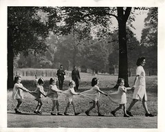 #Little girl evacuees from Gibraltar hold the skirt of the one before them as they take a walk with fellow refugee nurse-in-training through London Park. 1942 [1276 x 1023] #history #retro #vintage #dh #HistoryPorn http://ift.tt/2gvyU4l (Histolines) Tags: histolines history timeline retro vinatage little girl evacuees from gibraltar hold skirt one before them they take walk with fellow refugee nurseintraining through london park 1942 1276 x 1023 vintage dh historyporn httpifttt2gvyu4l