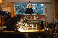 earlier today (Danny W. Mansmith) Tags: sewingpaper dannymansmith mao studio burienwashington art
