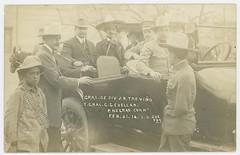 Gral. de Div. J. B. Trevino y Gral. G. G. Cuellar. P. Negras. Coah. Feb. 21. 16. (SMU Central University Libraries) Tags: automobiles militia mexicanrevolution