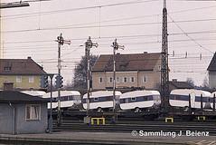 Freilassing Bahnhof  03-1973  mit bayrischen Flgelsignalen (Pacific11) Tags: eisenbahn train track railway railroad bayern freilassing bad reichenhall elok vintage alt 1973 bahnhof
