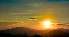 Sunset over mountains (Akshana's Photos) Tags: landscape georgia sunset nikon mountains nature wide
