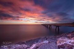 AMANECER EN SAGUNTO * (l3v1k) Tags: ifttt 500px paisaje comunidad valenciana mar nocturna amanecer naturaleza pantalan larga exposición port de sagunt largaexposición portdesagunt