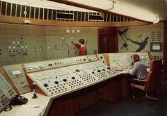 The Control Room In The 400 MW, North of Scotland Hydro-Electric Board (SwellMap) Tags: industry vintage advertising design flying pc 60s technology fifties satellite postcard suburbia style kitsch science ufo retro nostalgia chrome americana spaceship 50s googie populuxe sixties extraterrestrial saucer babyboomer consumer coldwar midcentury spaceage atomicage