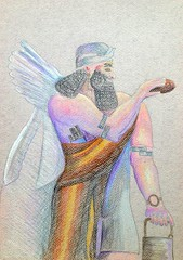 Barbara Roberts - One Day Artist Residency (Worcester Art Museum) Tags: color pencil sketch genius syrian assyrian