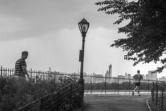 run and rain 1 (zoolien) Tags: leica blackandwhite bw usa newyork rain noiretblanc centralpark manhattan run nb m9