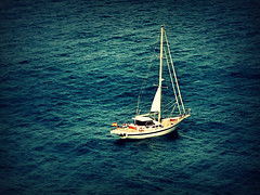 Sail Away, Sail Away, Sail Away (Gem E Piper) Tags: travel blue sea vacation holiday water beautiful outdoors boat spain europe mediterranean waves sailing yacht flag transport relaxing floating peaceful catalonia