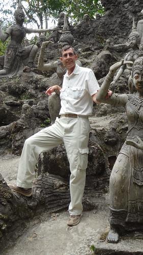 Danny With Buddhas, Tanim Magic Garden, Koh Samui Island, Thailand