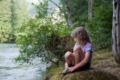 Niamh by the River II (emilyfrances5) Tags: camping summer niamh northcascades skagitriver 2013